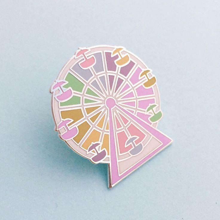 Pastel Rainbow Ferris Wheel Enamel Pin Badge, Lapel Pin, Tie Pin by fairycakes on Etsy https://www.etsy.com/uk/listing/265672895/pastel-rainbow-ferris-wheel-enamel-pin