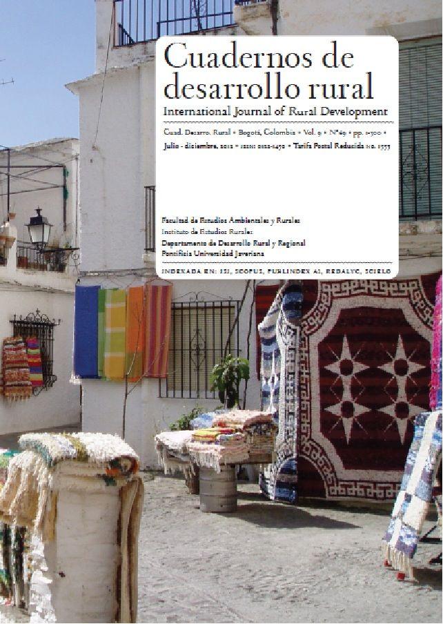 Vol 9, No 69 (2012): Cuadernos de Desarrollo Rural