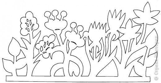 Вырезание, Вытынанка: Цветочные полянки фото 5