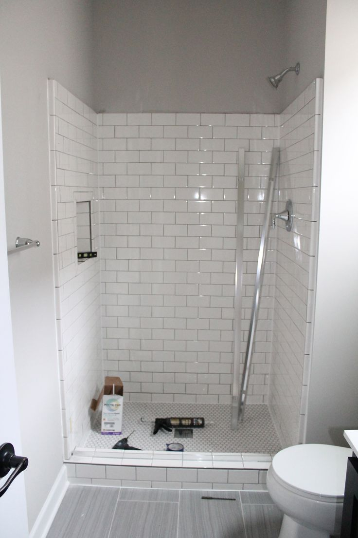 Swood Mn Bathroom Remodels Tile Fireplace Construction2style Pinterest White Subway Shower Showers And Tiles