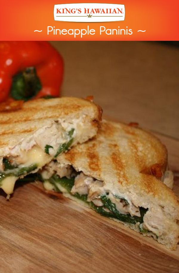 Sometimes we prefer our sandwiches pressed. Try this Pupule Pineapple and Pepper Panini on KING'S HAWAIIAN sliced bread.