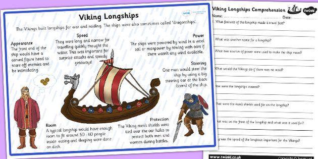 vikings longships information and comprehension worksheet viking study pinterest. Black Bedroom Furniture Sets. Home Design Ideas