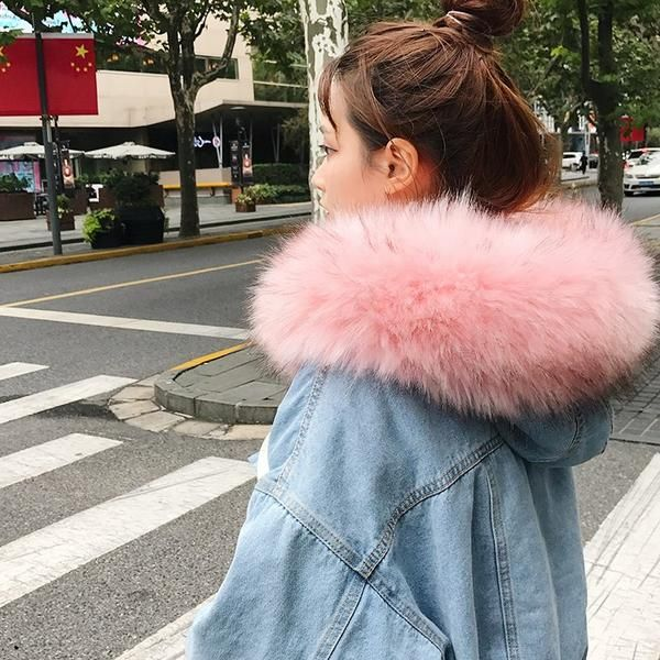 Women Parkas Denim Hooded Winter Warm Students Plus Velvet Thicker Fashion  Short Style Womens Coat New 754dd3491