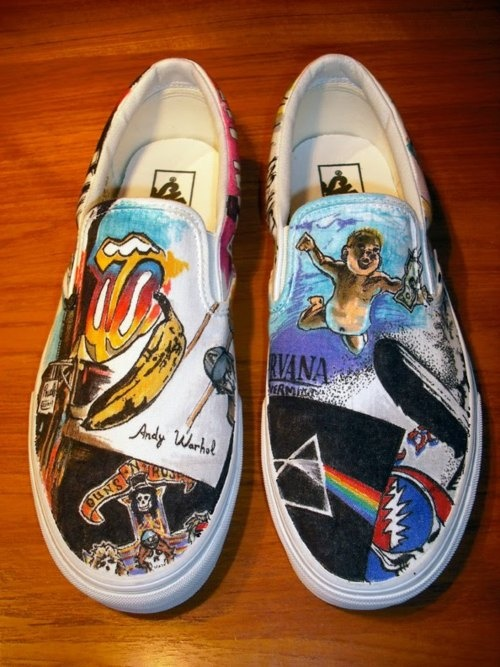 band shoes (incl. Nirvana, Rolling Stones, Pink Floyd, Guns 'N Roses)