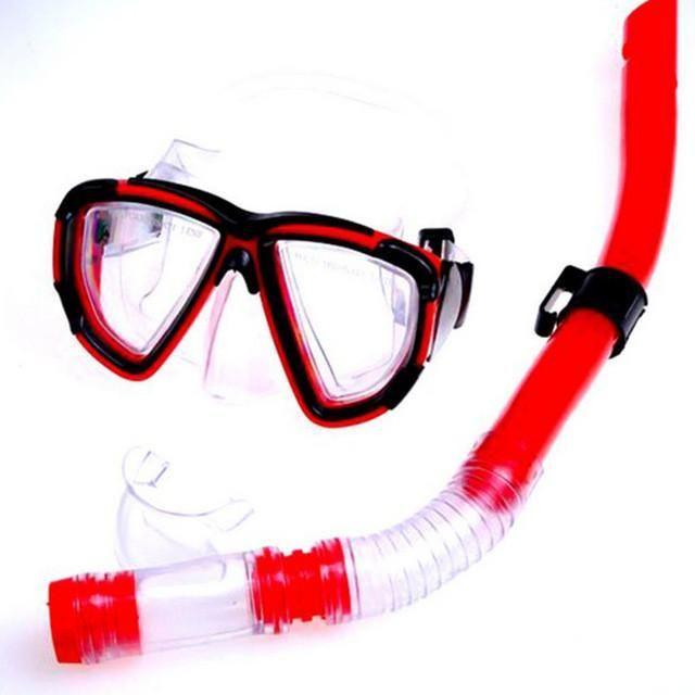Scuba Anti-fog Goggles Semi Dry Snorkel Set