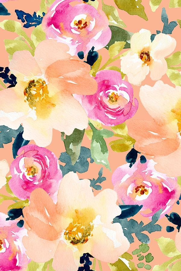 Colorful Floral Pattern Watercolor Flowers Pattern Floral