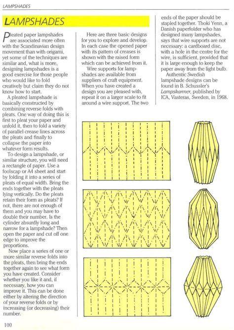O que é meu é nosso: Origami - Cúpula de Luminária (Lampshade) - Eric Kenneway