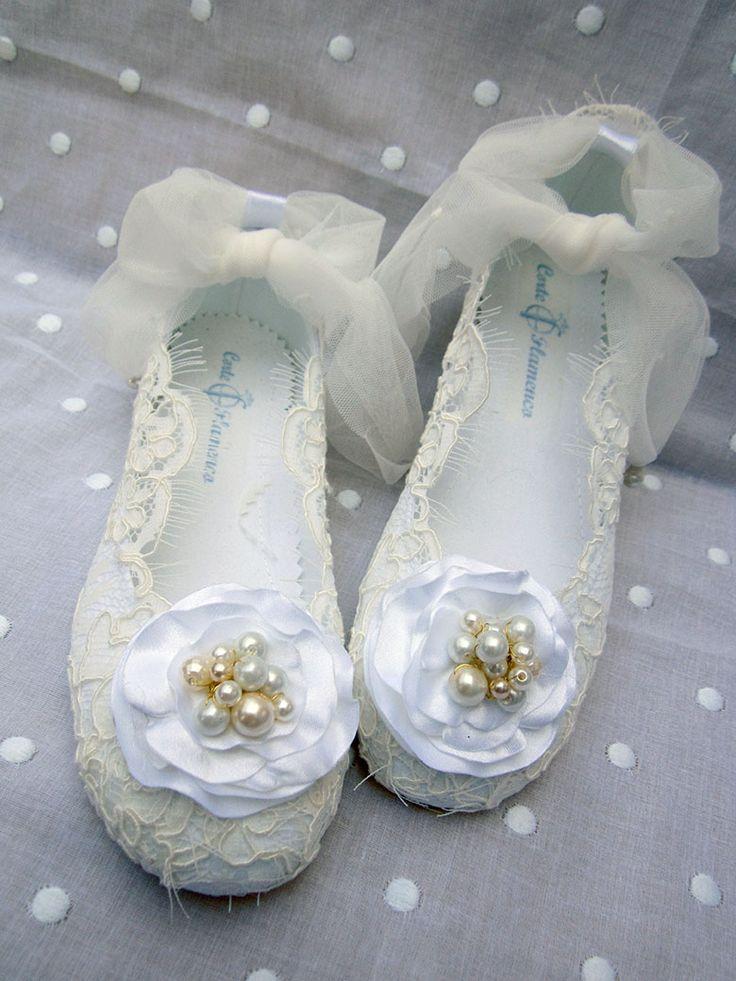 Zapatos para Arras Marita Rial, Zapatos exclusivos hechos artesanalmente, bailarinas, mas información en info@corteflamenco.com