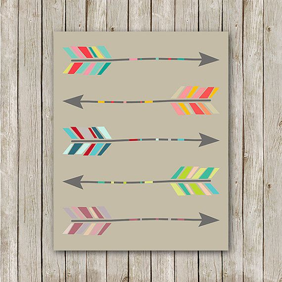 Arrow Print Instant Download Arrow Art Print by MossAndTwigPrints, $5.00