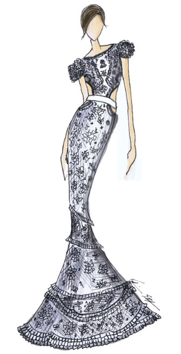 En fotos: bocetos para el vestido de boda de Miley Cyrus ¿Qué diseño escogerá? - Entretenimiento - De Moda En Venezuela