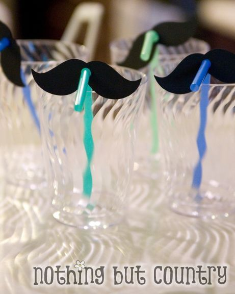 Little Man Baby Shower - Mustache Theme | CatchMyParty.com