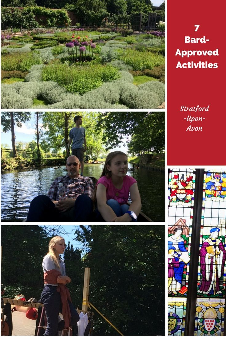 """Click thru and check out these 7 """"Bard Approved"""" activities. Stratford-Upon-Avon is an enchanting town full of life, history and theatre. So, put Stratford-Upon-Avon on your bucket list. Priceless memories await!  via @https://www.pinterest.com/Captiv8Compass/"""