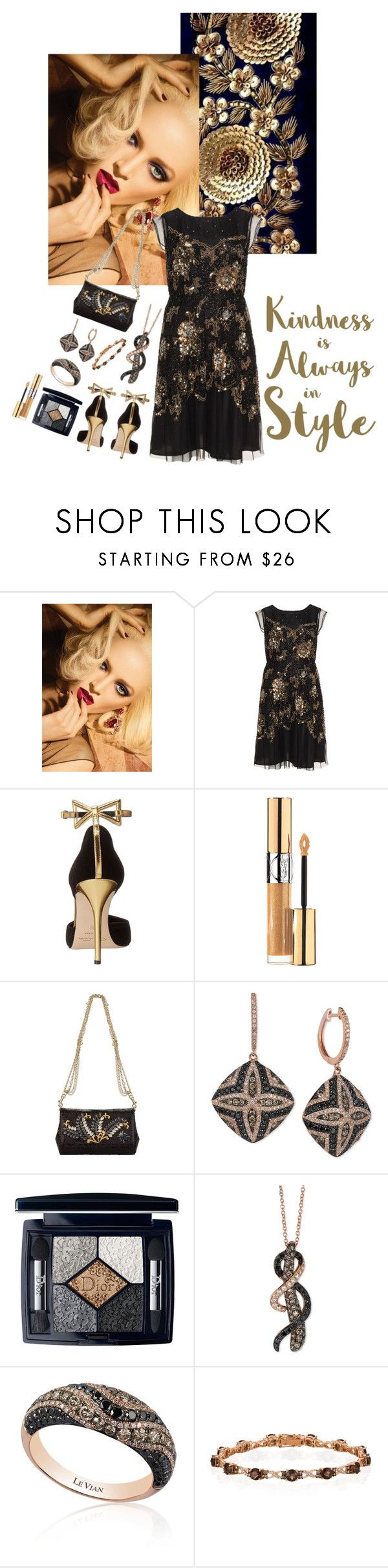 """""""Kindness is Always in Style"""" by jeanine65 ❤ liked on Polyvore featuring Christian Dior, navabi, Oscar de la Renta, Yves Saint Laurent, Dolce&Gabbana, LE VIAN and Sixtrees"""