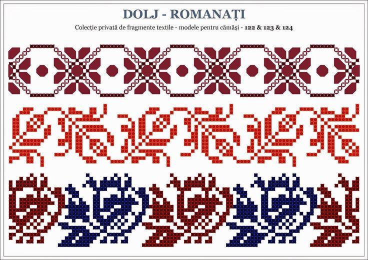 Semne Cusute: traditional Romanian motifs - OLTENIA: Dolj-Romana...