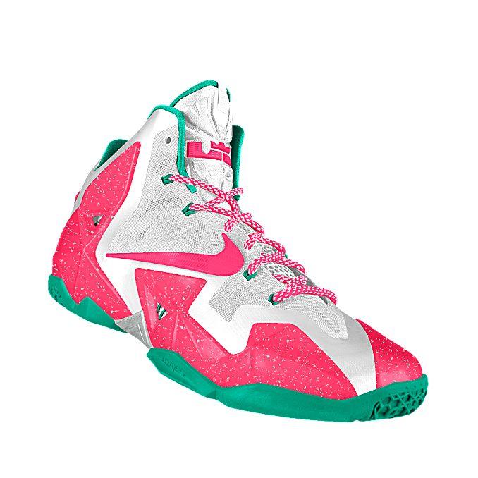 NIKEiD. Custom LeBron 11 iD Basketball Shoe