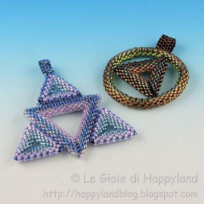 multi triangles & triangle & circle pendants - Le gioie di Happyland: Le creazioni di Tania