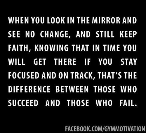 Weight loss motivation - the difference between those who succeed and those who fail. I'm not stopping now!