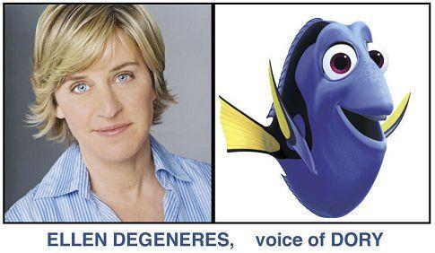 *ELLEN DE GENERES voice of DORY ~ Finding Nemo (2003)