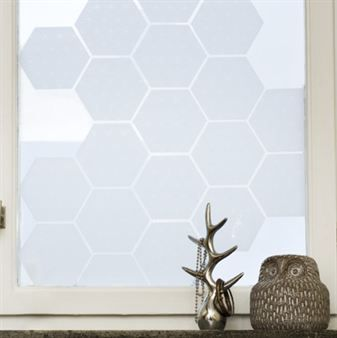 Origo Tiles window screen film - 15,5x13,4 cm - Siluett Frost :: scandinavian design center