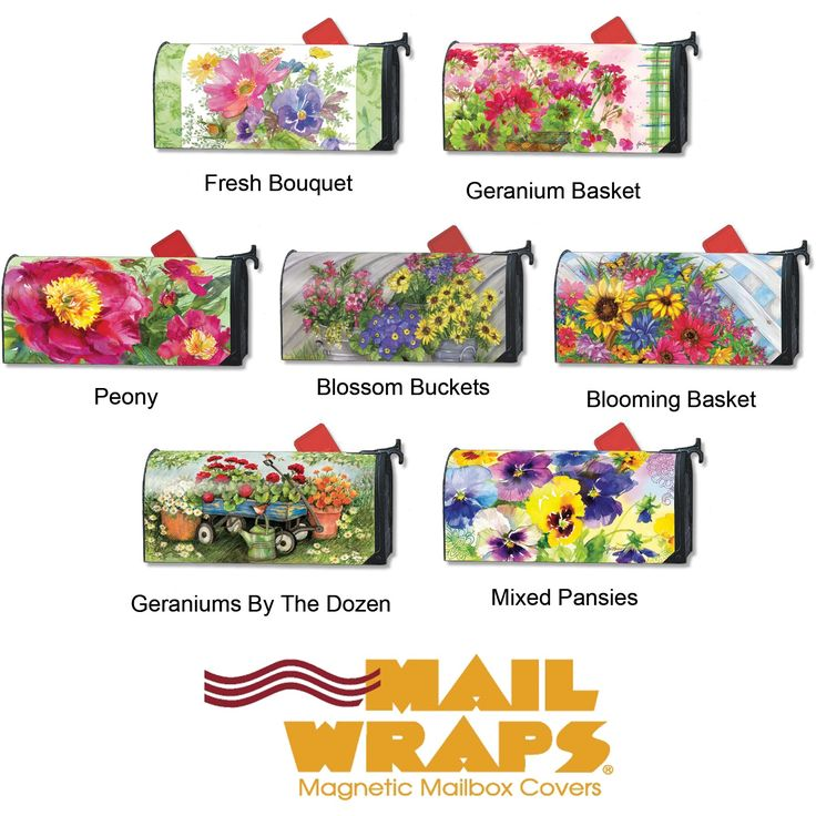 MailWraps Magnetic Mailbox Covers - Flowers