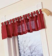 hockey stick curtain rod I actually did this for my son when he was about 5 yrs old; he is now 18. I had long curtains with a whistle tie back. The tie back was actually a skate lace (red and white) with an old school metal whistle attached. The stick was red as well and the curtain was navy blue with tab tops. It was gorgeous, if I do say so myself.