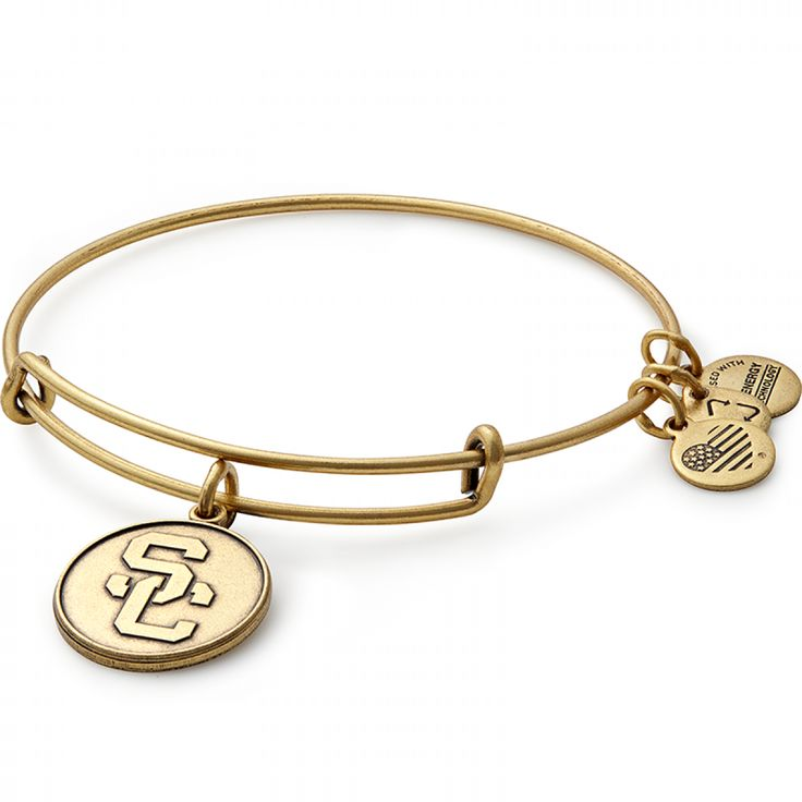 The University of Southern California Logo Charm Bangle by ALEX AND ANI.
