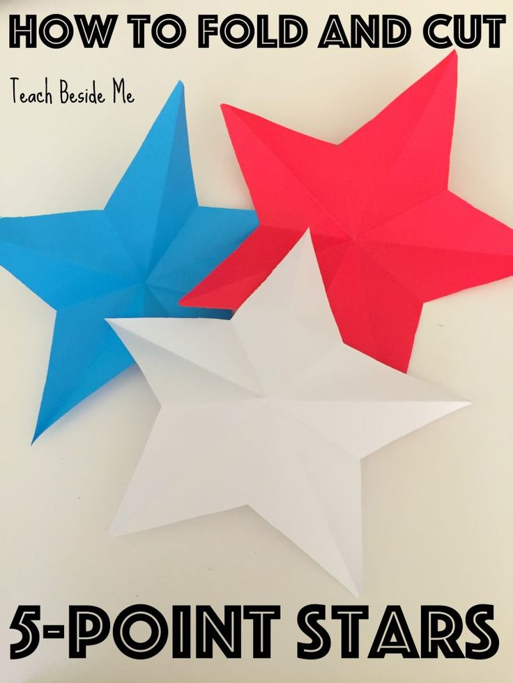 How to fold and cut 5-point stars