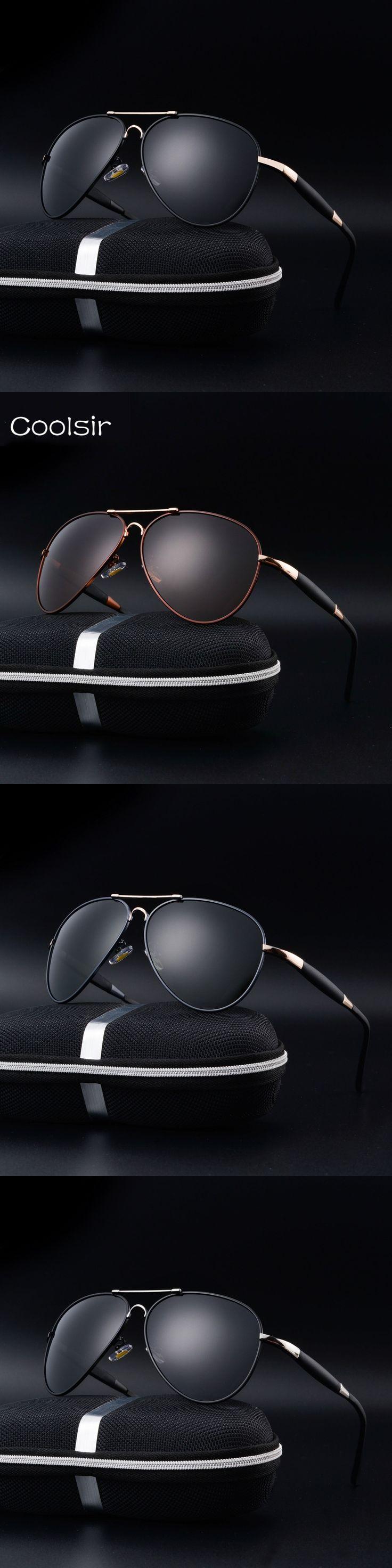 New 2017 Coolsir Brand Designer Polarized aviator Sunglasses Men fashion Metal frame Retro Driving Travel gafas de sol hombre