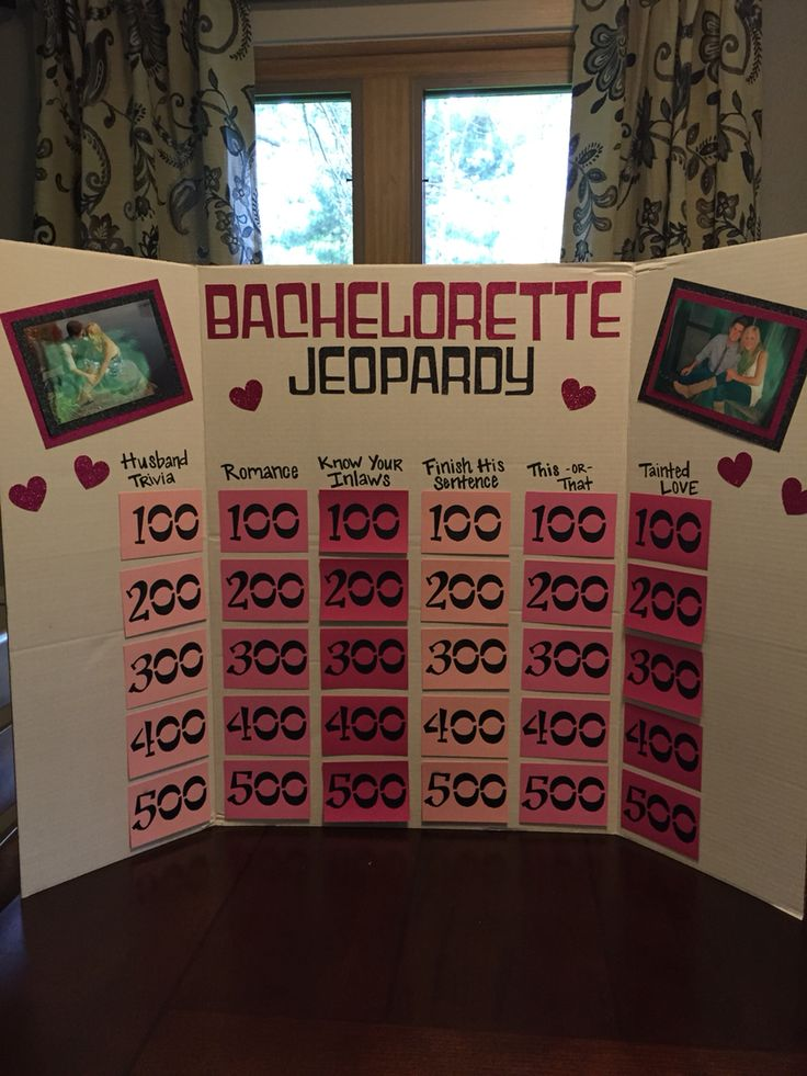 Best  Bachelorette Jeopardy Ideas On   Bridal Games