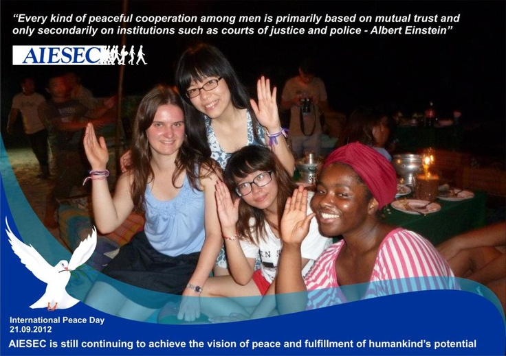 #Peace, #PeaceOneDay, #AIESEC
