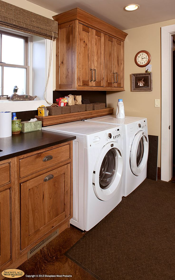Rustic Laundry Room Cabinets - Find this pin and more on dp laundry mud rooms showplace cabinets