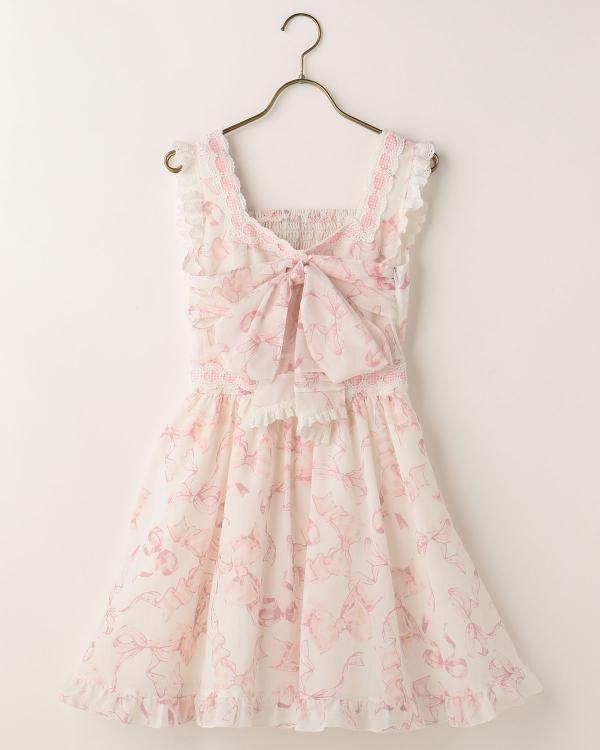 【予約】リボン柄ワンピース|渋谷109で人気のガーリーファッション リズリサ公式通販