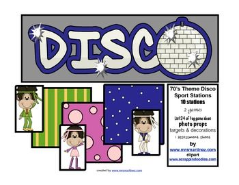 Physical Education Disco Stations for PE class or a School wide event! www.mrsmartinez.com