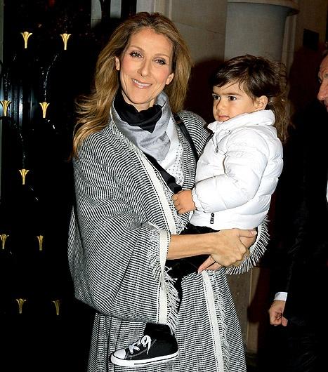 "Celine Dion's Son Nelson, 2, ""Loves"" Wearing High Heels"