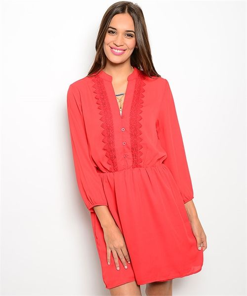 #reddress #boutiquedress #dressesforwomen | Color Me Red Dress - Cali Boutique |  FREE shipping to the U.S.
