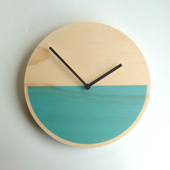 Objectify Demi Blue Plywood Wall Clock - Large