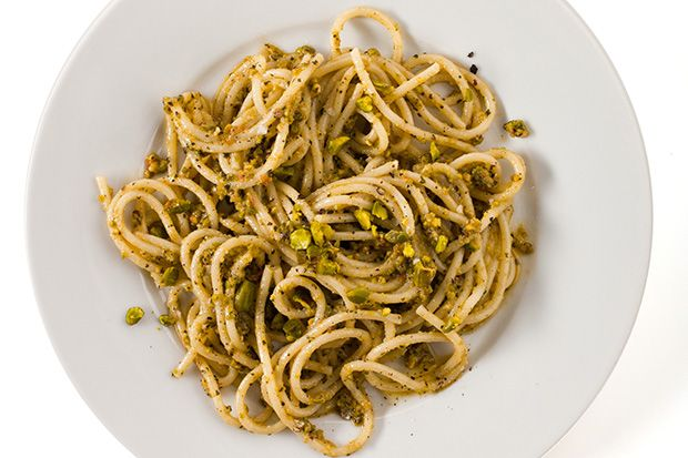 Find the recipe for Pasta with Pistachio Pesto and other mint recipes at Epicurious.com