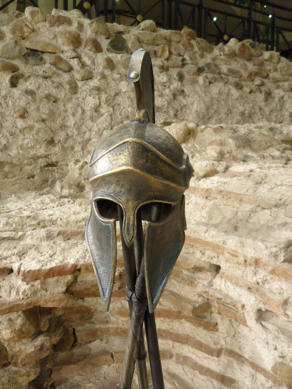 Greek Helmet Ancient Corinthian Helmet Greek by BirdArtBulgaria