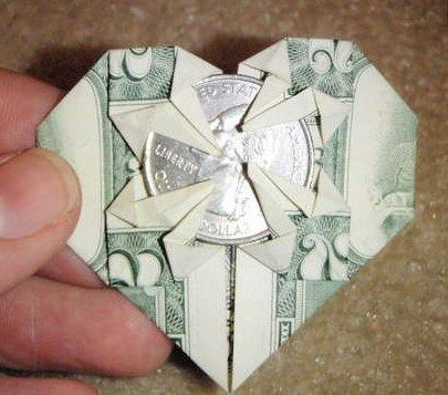 Don't like the basket? Try this origami heart.