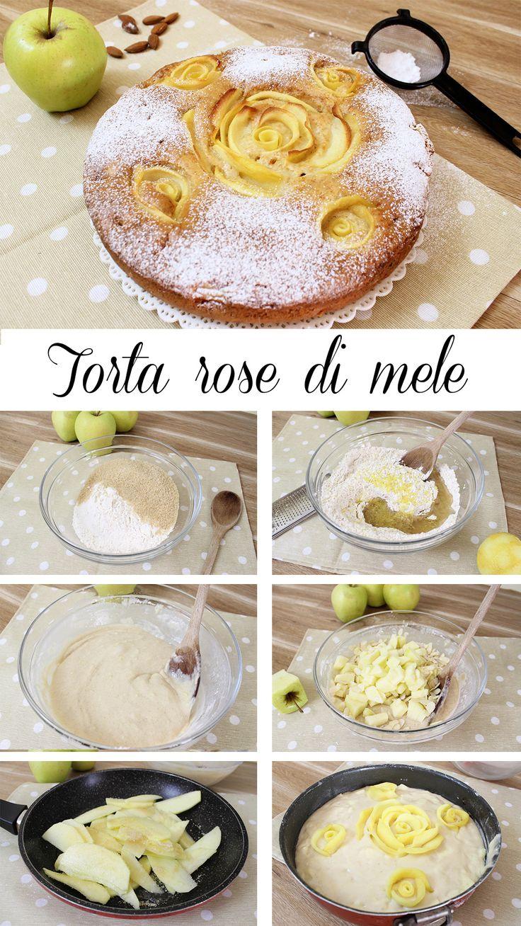 INGREDIENTI PER 6 PERSONE: 260g di farina'0 150g di zucchero di canna 80ml di olio di semi 230ml di latte vegetale 30g di mandorle in scaglie o a pezzetti scorza di 1 limone 1 mela 1 vanillina 1 bustina di lievito per dolci  PER LA DECORAZIONE 2 mele 2 cucchiai di zucchero di canna 50ml di acqua