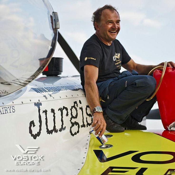 Lithuanian pilot Jurgis Kairys, Vostok-Europe ambassador and multiple Aerobatics World Champion #VostokEurope #watch #pilot #aviation #chronograph #automatic
