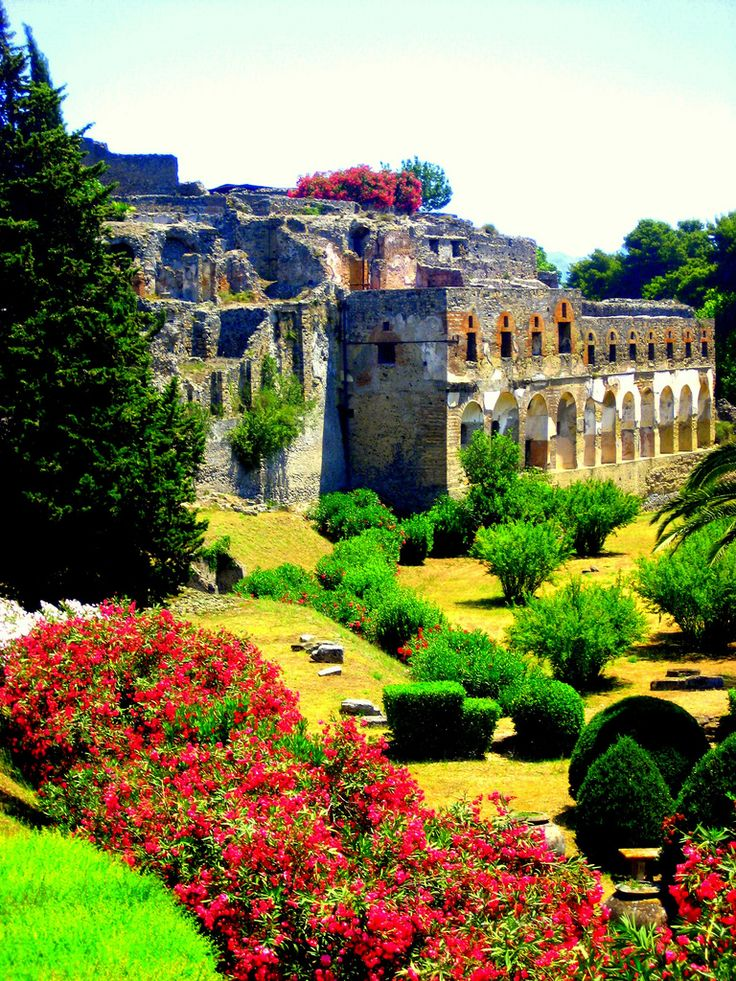 Garden at Pompeii, #Italy