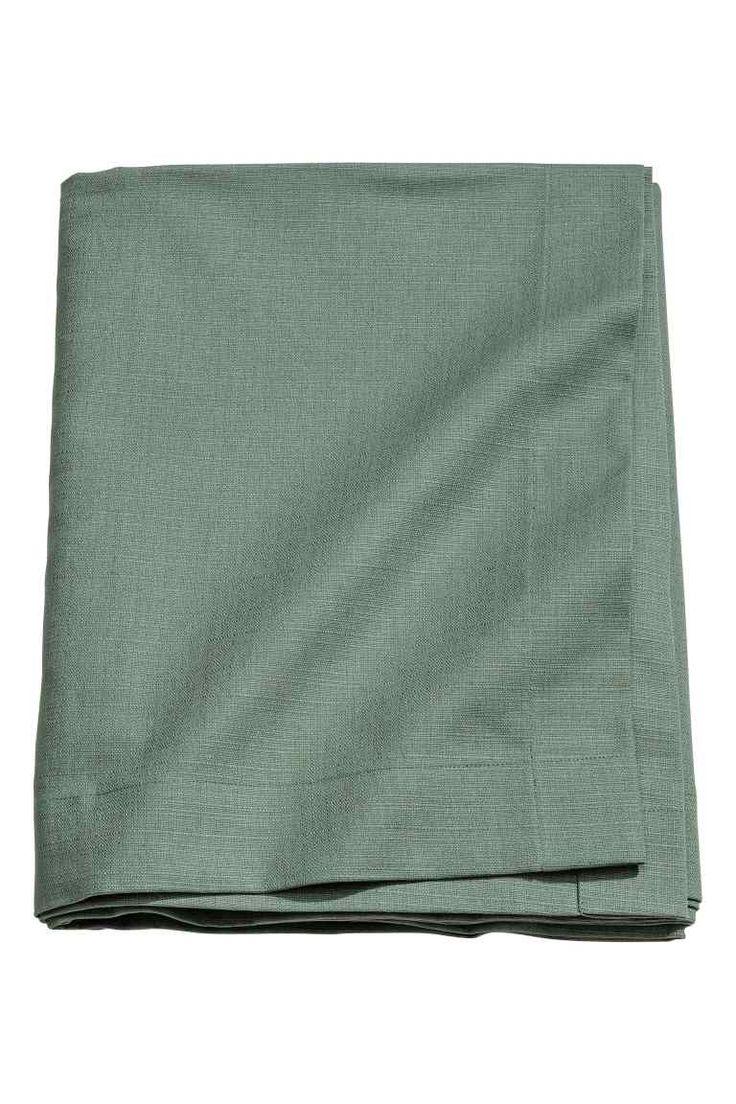 Slub-weave tablecloth - Dusky green - Home All | H&M