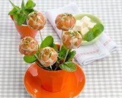 Sucettes de saumon au fromage frais