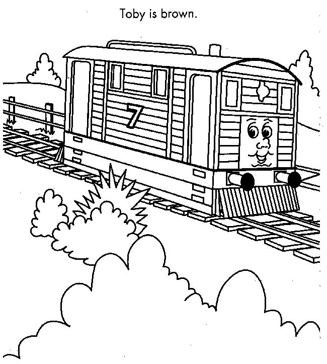 thomas the tank engine coloring pages toby