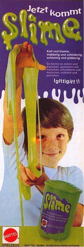 """Absolut nutzfreie Kultsubstanz """"Slime"""", auch Anti-Eltern-Substanz genannt: kalt und klamm, schleimig und schlickerig"""