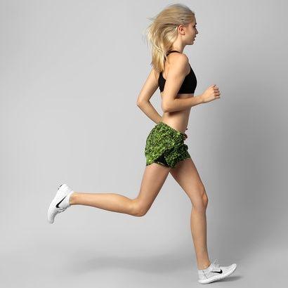 Short Nike Printed Mod Tempo - Verde Limão+Preto