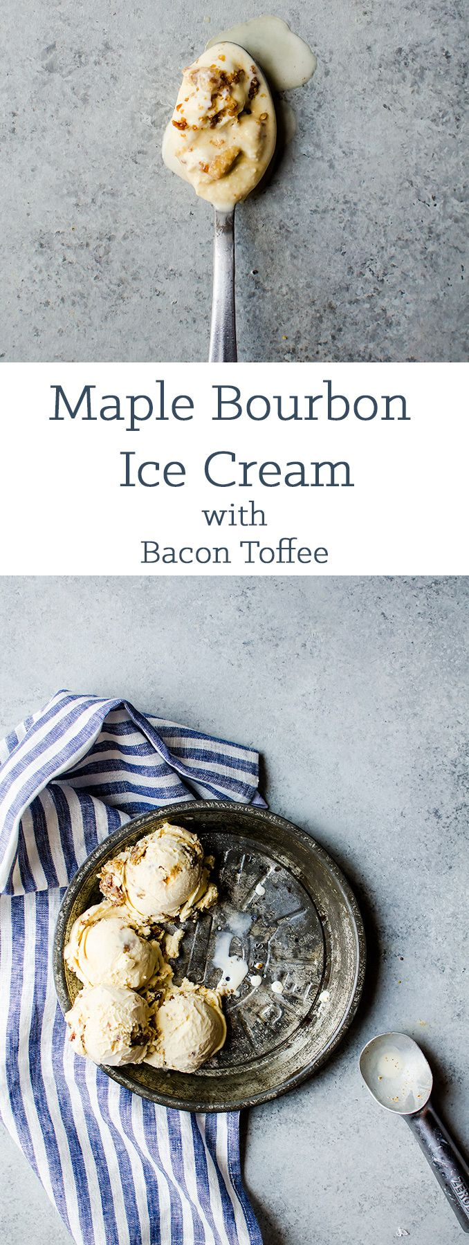 There is nothing better than this maple ice cream with bourbon and bacon toffee bits.