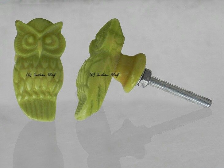 Resin owl shape #drawer #knob. View complete collection at https://www.indianshelf.com/category/wooden-bone-resin-horn-knobs/. We supply all over the world.