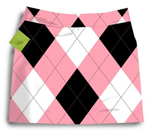 so preppy...love it: Loudmouth Pink, Golf Stuff, Golf Skort, Cute Golf Clothing, Golf Skirts, Black Skort, Ugly Clothing, Golf Apparel, Golf Fashion